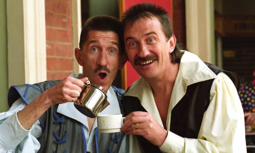 The Chuckle Brothers in costume for the pantomime Snow White at the Grand theatre, Wolverhampton in 1993.
