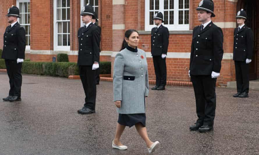 Priti Patel defends police crackdown on Covid lockdown rule-breakers | Coronavirus | The Guardian