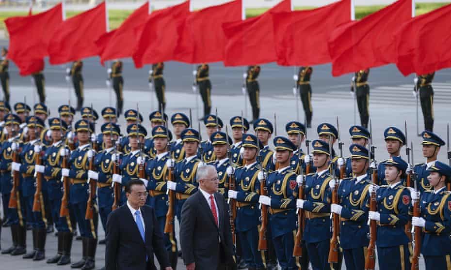 Li Keqiang and Malcolm Turnbull