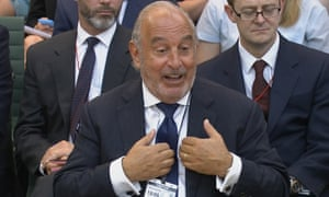 Sir Philip Green at the business select committee in the House of Commons.