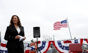 The California senator Kamala Harris is presenting herself as a criminal justice reformer.