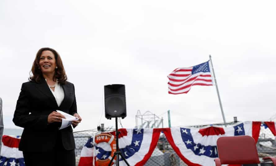 The California senator Kamala Harris is presenting herself as a criminal justice reformer.