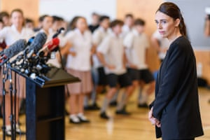 Christchurch, New ZealandNew Zealand Prime Minister Jacinda Ardern reacts as students perfom a Haka during her visit to Cashmere High School which lost two students during a mass shooting. Fifty people were killed, and dozens are still injured in hospital after a gunman opened fire on two Christchurch mosques on Friday, 15 March