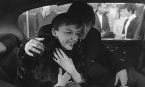 Judy Garland and fifth husband Mickey Deans in London for a cabaret season at Talk of Town in 1968.