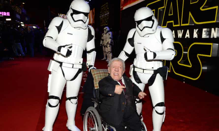 Baker, 10 years later, at the Star Wars: The Force Awakens premiere in 2015.