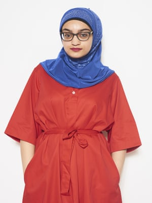 Zofisha Akram, 22, wears dress,