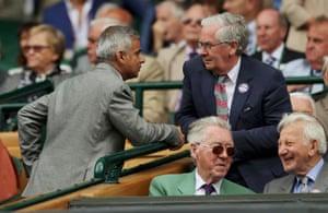 Mayor of London, Sadiq Khan, chats with former Bank of England governor Mervyn King