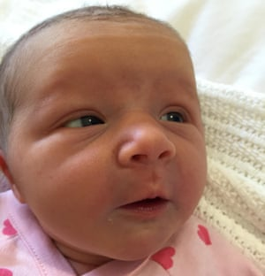 Violet May Maslin was born on Tuesday to Anthony Maslin and Marite Norris, the couple who lost their three children in the downing of flight MH17