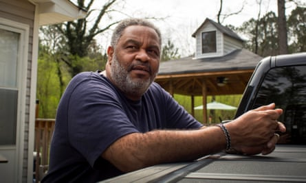 Anthony Ray Hinton standing next to his truck