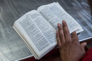 A Bible during the study session.