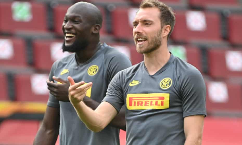 Romelu Lukaku and Christian Eriksen