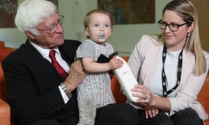 Bob Katter with Kahla Kruger and 1 year old baby Bodhi