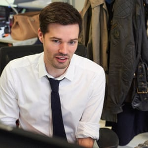 """Tom Sykes working at TfL – """"it feels open to innovation""""."""
