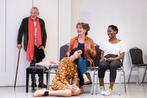 Ian McKellen, left, plays Firs in Theatre Royal Windsor's new production, directed by Sean Matthias and also starring Missy Malek, Francesca Annis and Kezrena James.