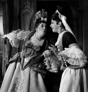 The Way of the World, 1953Margaret Rutherford, left, as Lady Wishfort in William Congreve's comedy