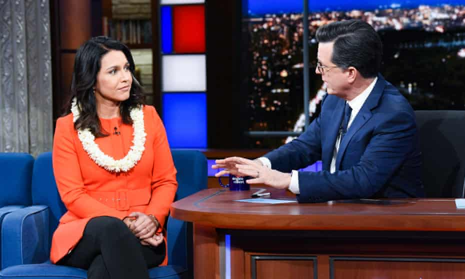 Gabbard on the The Late Show with Stephen Colbert 11 March 2019.