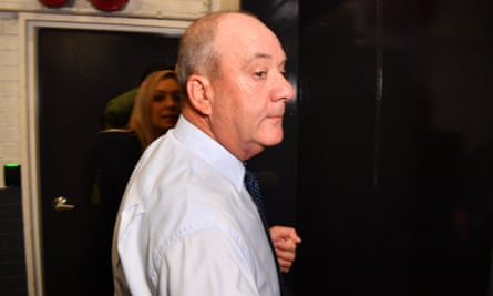 Former Wagga Wagga MP Daryl Maguire arrives at the Independent Commission Against Corruption hearing in Sydney last Friday.