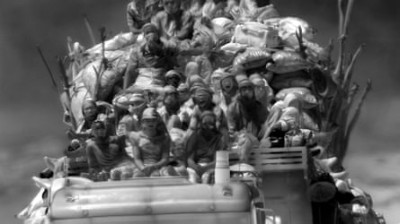Teeming humanity... a still from Incoming.