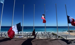 Flags lowered on Nice seafront