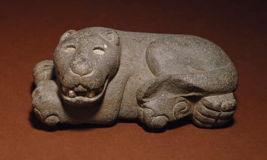 Aztec artist - Reclining Jaguar, 1400–1521
