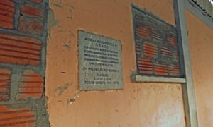 "A marble plaque on the wall of what was once an animal feed plant, financed with Plan Colombia money, reads : ""Gratitude to USAID. This agro-industrial complex was built with its valuable support"" . The $3mn plant, which went online in 2003, only operated for eight months."