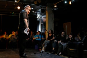 Dean Wilson, an ex-postman from Hull, performs at Kardomah94. He read a poem called Didlum that was commissioned as part of the BBC Free the Word Project
