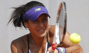 Heather Watson lost her first five service games in her defeat to Russia's Svetlana Kuznetsova in the French Open at Roland Garros