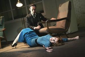 The Hothouse Finbar Lynch (Gibbs) and Lia Williams (Miss Cutts) directed by Ian Rickson. Lyttelton Theatre, London, 2007.