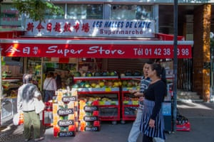 A Chinese grocery in Paris's 20th arrondissement.
