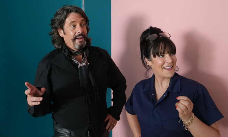 Some things never change ... Laurence Llewelyn-Bowen and Anna Richardson mid-makeover.