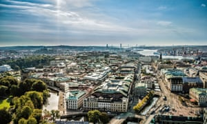 Aerial of Gothenburg