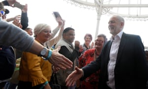 Jeremy Corbyn arrives at the Labour party Women's Conference in Brighton on Saturday.