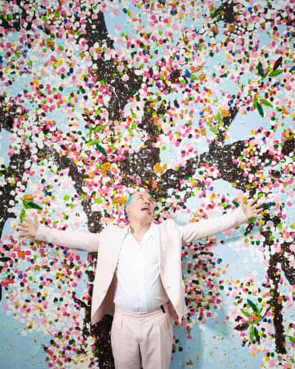 'They are an assault on the senses': Hirst with his flowers.