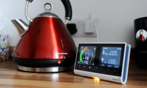 A kettle and an energy smart meter