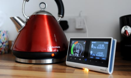 British Gas smart meter showing consumption of electricity and gas used