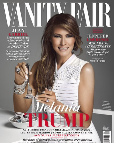 Melania Trump on the cover of Vanity Fair Mexico.