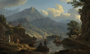 Landscape with Tourists at Loch Katrin by John Knox, 1815.