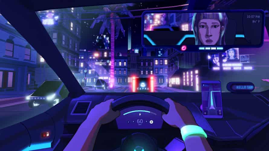 The last human ride-share driver in Los Ojos … Neo Cab.