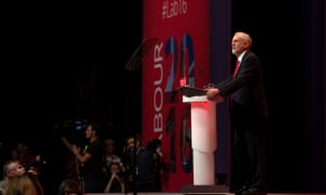 Jeremy Corbyn delivers his keynote speech on the final day of the Labour party conference.