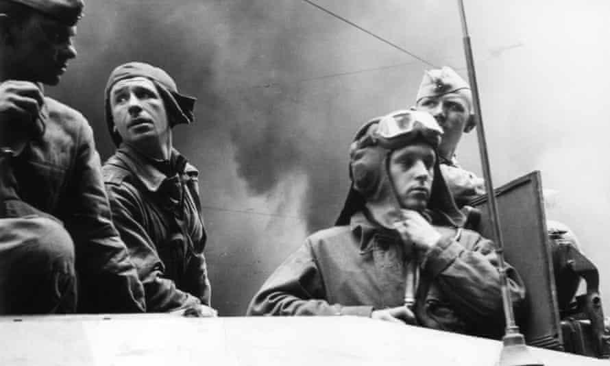 Warsaw Pact tank crew in Prague 1968