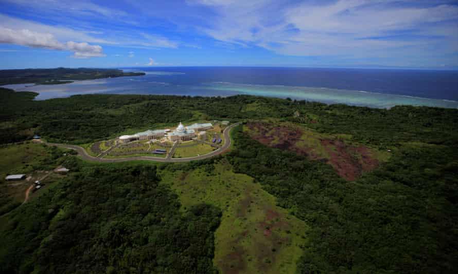 US defense secretary Mark Esper flew nearly halfway around the world to Palau, which no Pentagon chief has ever visited