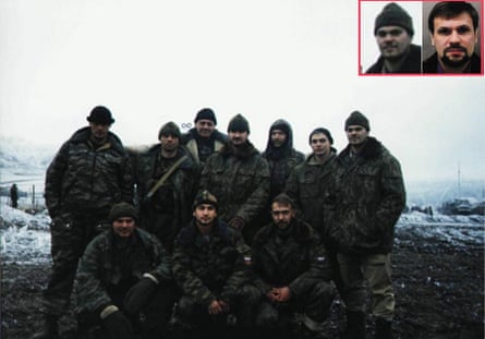 The group photograph with a man resembling Boshirov