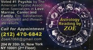 Photo of Ann Thompson's business card