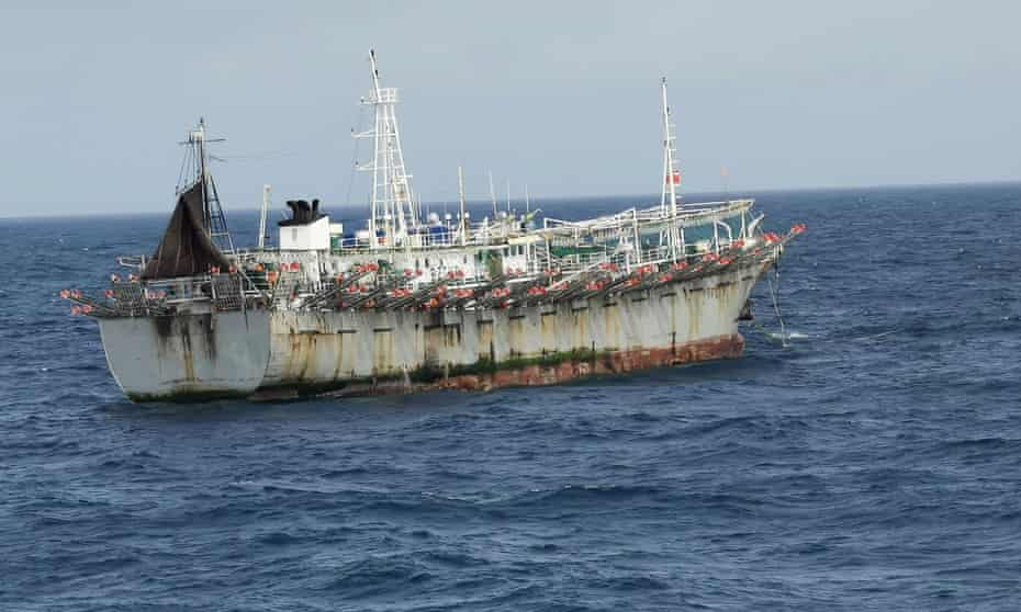 A Chinese fishing boat in the Pacific