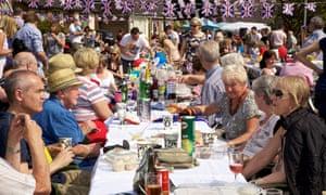 Royal Wedding street party in Merseyside