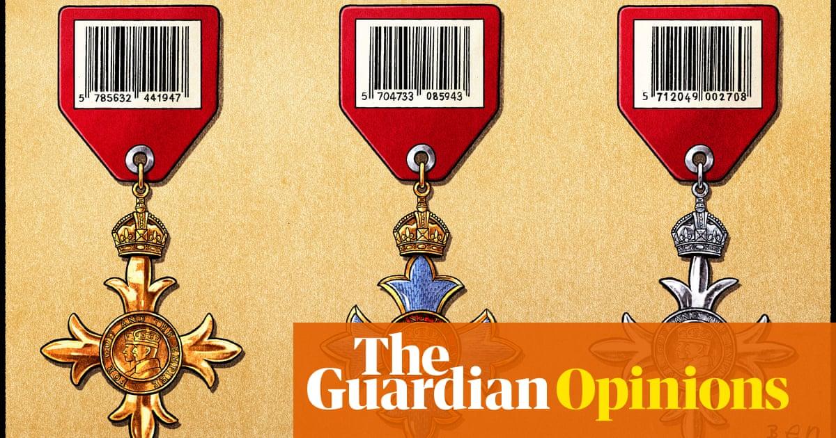 Ben Jennings on the British honours system — cartoon