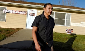 Chase Iron Eyes, a prominent activist and former Democratic congressional candidate: 'The history we have here is not set up to honour us as human beings or honour our right to participate in democracy.'