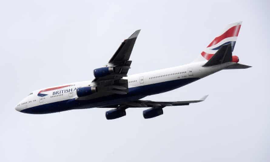 A British Airways Boeing 747 aircraft