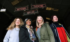 Evie Manning, left, with artistic director Kully Thiarai, writer Rachel Trezise and co-director Rhiannon White.