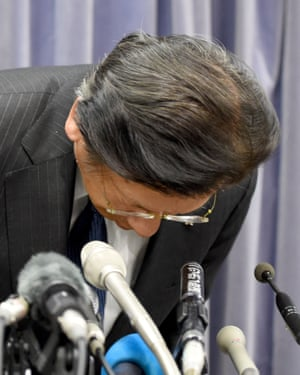 'I was totally unaware this was happening,' Mitsubishi's president, Tetsuro Aikawa, told the press.